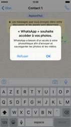 Apple iPhone 6 iOS 9 - WhatsApp - Partager des photos et votre emplacement avec WhatsApp - Étape 18