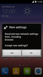 Huawei Ascend Y550 - Settings - Configuration message received - Step 6