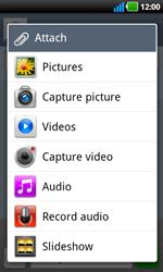 LG P970 Optimus Black - Mms - Sending a picture message - Step 8