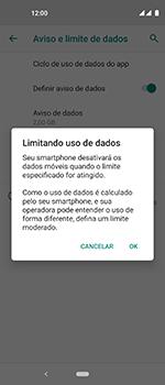 Motorola One Vision - Rede móvel - Como definir um aviso e limite de uso de dados - Etapa 12