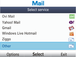 Nokia Asha 302 - E-mail - Manual configuration - Step 4