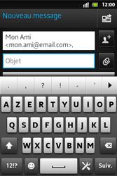 Sony ST27i Xperia Go - E-mail - envoyer un e-mail - Étape 6