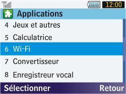 Samsung S3570 Chat 357 - Wifi - configuration manuelle - Étape 3