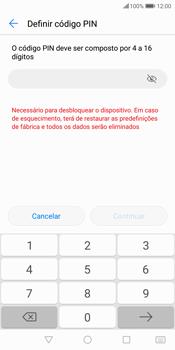 Huawei P Smart - Segurança - Como ativar o código de bloqueio do ecrã -  8