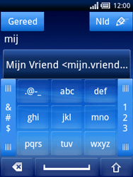 Sony Ericsson Xperia X10 Mini - E-mail - Hoe te versturen - Stap 6
