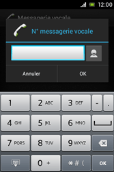 Sony ST23i Xperia Miro - Messagerie vocale - configuration manuelle - Étape 8