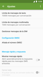 BQ Aquaris U - Mensajería - Configurar el equipo para mensajes de texto - Paso 9