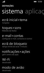 Nokia Lumia 530 - Segurança - Como ativar o código de bloqueio do ecrã -  4