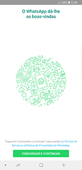 Samsung Galaxy Note 8 - Android Oreo - Aplicações - Como configurar o WhatsApp -  5
