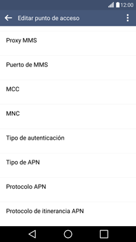 LG G4 - Internet - Configurar Internet - Paso 13