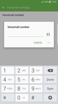 Samsung Samsung G928 Galaxy S6 Edge + (Android M) - Voicemail - Manual configuration - Step 8