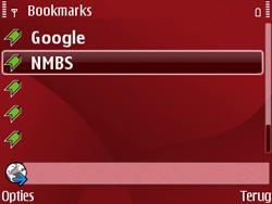 Nokia E63 - Internet - Hoe te internetten - Stap 12
