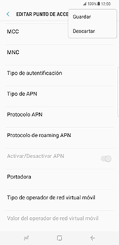 Samsung Galaxy S8 Plus - Mensajería - Configurar el equipo para mensajes multimedia - Paso 15