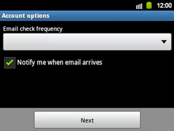 Samsung B5510 Galaxy TXT - E-mail - Manual configuration - Step 12