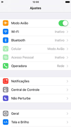 Apple iPhone 7 - iOS 10 - Rede móvel - Como ativar e desativar o modo avião no seu aparelho - Etapa 4