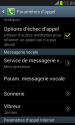 Samsung I8190 Galaxy S III Mini - Messagerie vocale - configuration manuelle - Étape 5