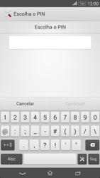 Sony Xperia E4 - Segurança - Como ativar o código de bloqueio do ecrã -  7