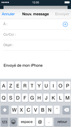 Apple iPhone 5 iOS 8 - E-mail - envoyer un e-mail - Étape 3