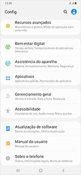 Samsung Galaxy A50 - Primeiros passos - Como encontrar o número de IMEI do seu aparelho - Etapa 4