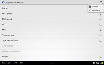 Samsung N8020 Galaxy Note 10-1 LTE - Internet - Handmatig instellen - Stap 13