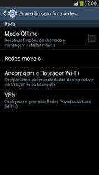 Samsung I9500 Galaxy S IV - Rede móvel - Como ativar e desativar o modo avião no seu aparelho - Etapa 5