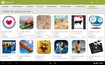 Sony Xperia Tablet Z - Aplicaciones - Descargar aplicaciones - Paso 12