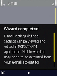 Nokia N86 - E-mail - Manual configuration - Step 17