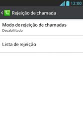 LG E612 Optimus L5 - Chamadas - Como bloquear chamadas de um número específico - Etapa 7