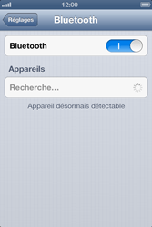 Apple iPhone 4 S - iOS 6 - Bluetooth - connexion Bluetooth - Étape 7