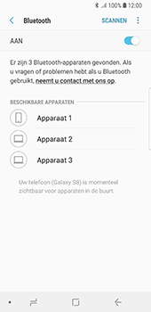 Samsung Galaxy S8 - Android Oreo - Bluetooth - headset, carkit verbinding - Stap 7