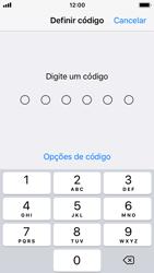 Apple iPhone SE - iOS 11 - Segurança - Como ativar o código de bloqueio do ecrã -  5