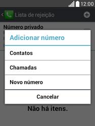 LG D100 L20 - Chamadas - Como bloquear chamadas de um número específico - Etapa 9