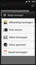 Sony ST25i Xperia U - E-mail - E-mails verzenden - Stap 10