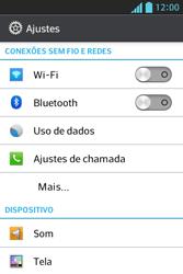 LG E612 Optimus L5 - Rede móvel - Como ativar e desativar uma rede de dados - Etapa 4