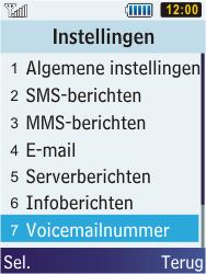 Samsung C3350 Xcover 2 - Voicemail - Handmatig instellen - Stap 5