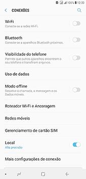 Samsung Galaxy J8 - Rede móvel - Como ativar e desativar uma rede de dados - Etapa 5