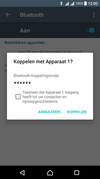 Sony Xperia L1 - WiFi en Bluetooth - Bluetooth koppelen - Stap 7
