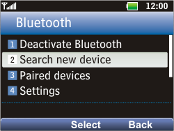LG C360 Golf - Bluetooth - Pair with another device - Step 5