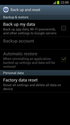 Samsung I9300 Galaxy S III - Device - Reset to factory settings - Step 6