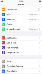 Apple iPhone 7 - iOS 13 - Primeiros passos - Como encontrar o número de IMEI do seu aparelho - Etapa 3