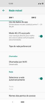 Motorola One Vision - Rede móvel - Como selecionar o tipo de rede adequada - Etapa 8