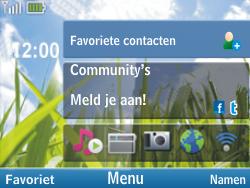 Nokia C3-00 - Internet - Populaire sites - Stap 1