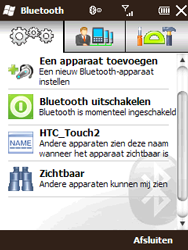 HTC T3333 Touch II - Bluetooth - Headset, carkit verbinding - Stap 6