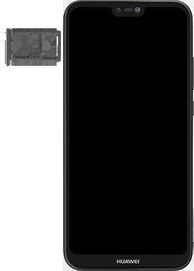 Huawei P20 lite - Premiers pas - Insérer la carte SIM - Étape 3