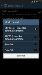 Samsung Galaxy S4 Mini - Red - Seleccionar el tipo de red - Paso 7