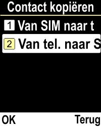 Emporia CLICKplus 3G (Model V32-3G) - Contacten en data - Contacten kopiëren van toestel naar SIM - Stap 5