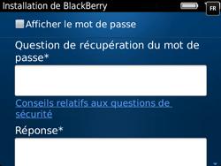 BlackBerry 9720 Bold - BlackBerry activation - BlackBerry ID activation - Étape 11