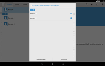 Sony Xperia Tablet Z2 4G (SGP521) - Contacten en data - Contacten kopiëren van toestel naar SIM - Stap 8
