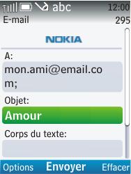 Nokia C2-01 - E-mail - envoyer un e-mail - Étape 8