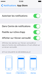 Apple iPhone SE - iOS 10 - iOS features - Personnaliser les notifications - Étape 9